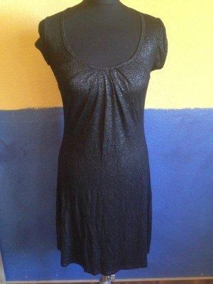 Kurzes Kleid mit Rückenausschnitt, schwarz mit silber Glitzer, Größe S/M, NEU mit Etikett!
