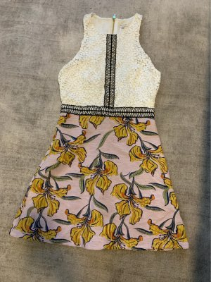 Kurzes Kleid mit Spitze und Stickereien