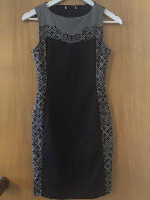 Kurzes Kleid schwarz/grau