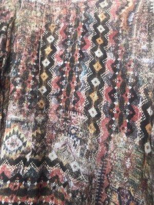Zara Basic Vestido Hippie multicolor