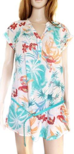 Kurzes, leichtes, luftiges Blusenkleid mit floralem Print