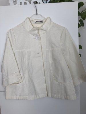 3 Suisses Short Jacket natural white linen
