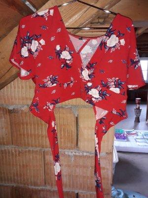 H&M T-shirt court rouge foncé-rouge
