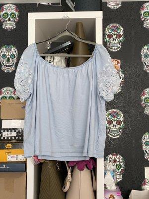 H&M Top épaules dénudées bleu azur-bleu clair