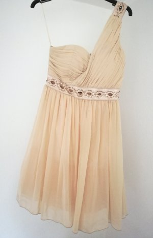 Jane norman One Shoulder Dress apricot