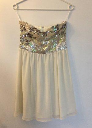Sequin Dress cream-white