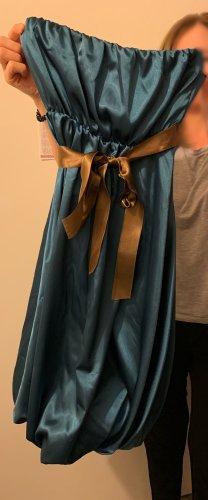 Bandeau Dress blue polyester