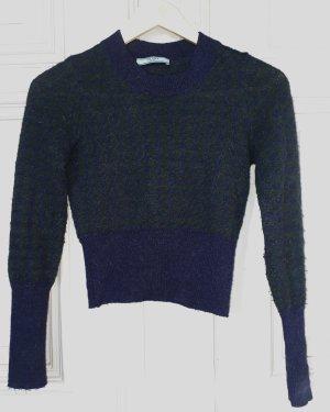 Prada Maglione di lana blu scuro-verde scuro Lana d'alpaca