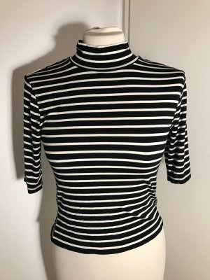 Cupio Cropped shirt zwart-wit Gemengd weefsel
