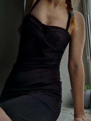 H&M Sukienka z gorsetem czarny