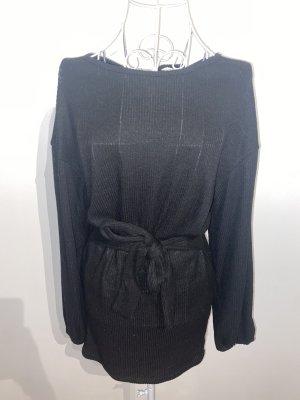 SheIn Swetrowa sukienka czarny