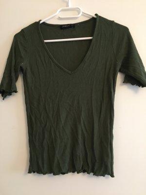 Stradivarius T-shirt court kaki-vert foncé