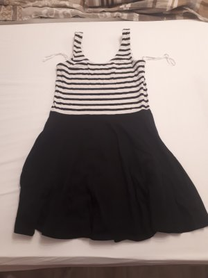 basics clockhouse Mini Dress white-black cotton