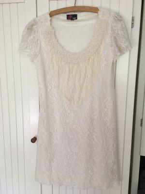 Yumi Sukienka mini w kolorze białej wełny