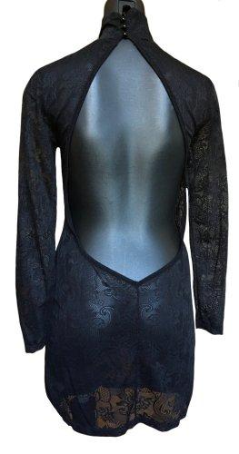 Topshop Robe découpée noir