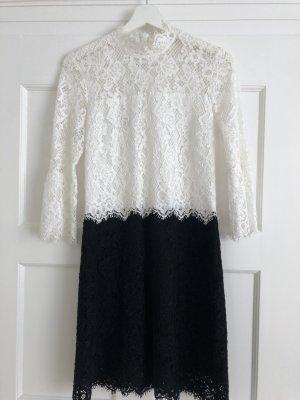 Pinko Lace Dress white-black mixture fibre