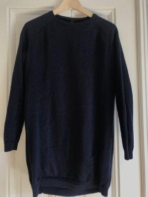 kurzes Strickkleid / langer Pullover Feinstrick