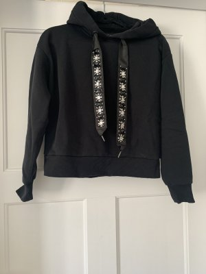 Kurzes Sweatshirt mit Strassbänder