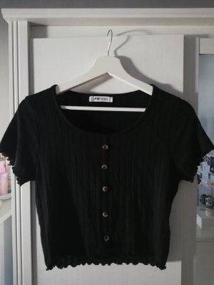 kurzes T-Shirt mit Knöpfen