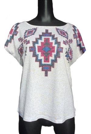 Kurzes T-Shirt mit Print