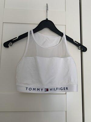 Tommy Hilfiger Koszula o skróconym kroju biały-ciemnoniebieski