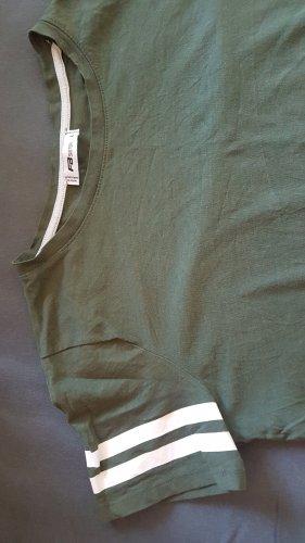 Fishbone T-shirt grigio-verde-verde oliva