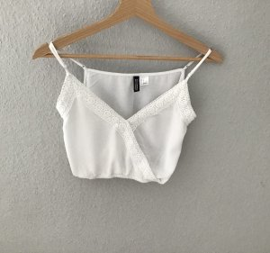 H&M Divided Top con bretelline bianco Cotone