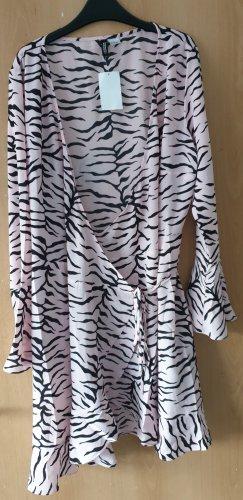 H&M Divided Robe portefeuille noir-rose clair