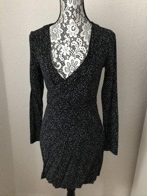 H&M Robe portefeuille noir-blanc