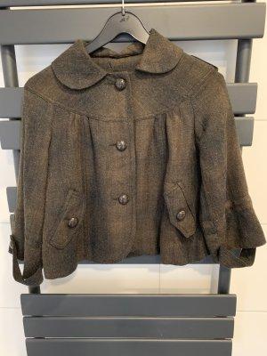 Amisu Blazer en laine taupe-bronze