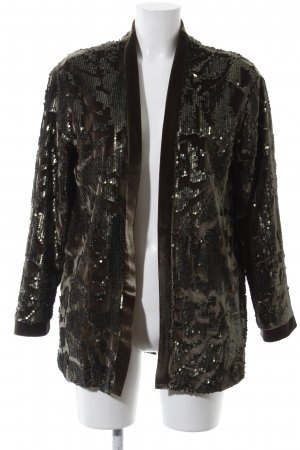 ALIX Short Jacket brown-khaki abstract pattern extravagant style