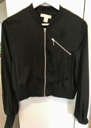 H&M Marynarka koszulowa czarny