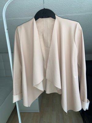 Zara Basic Faux Leather Jacket pink