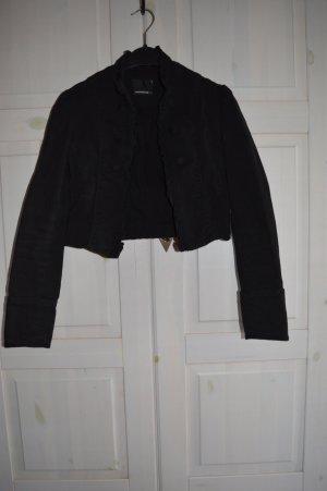 Fishbone Spijkerblazer zwart