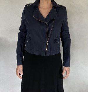 Boss Orange Short Jacket steel blue-dark blue cotton