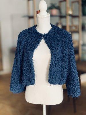 Kurzjacke Wolle Blau Jacke Bolero XS