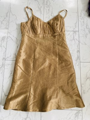 Kurzkleid neu Gold in 38