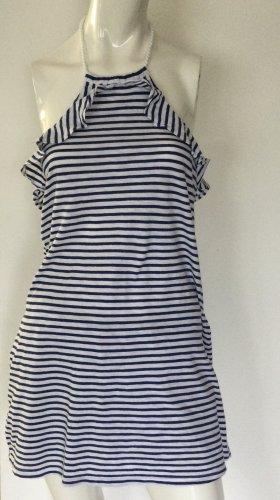 Calzedonia Beach Dress white-dark blue cotton