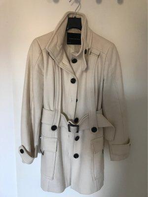 Zara Basic Short Coat natural white