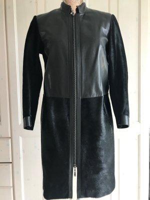 Steven-K Skórzany płaszcz czarny Skóra