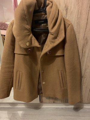 Zara Woman Heavy Pea Coat camel