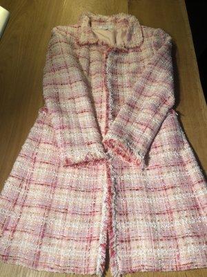 1.2.3 Paris Manteau court rose tissu mixte