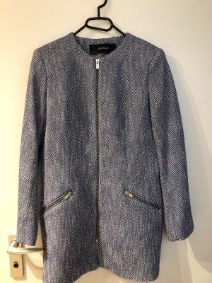 Zara Basic Manteau court bleu azur