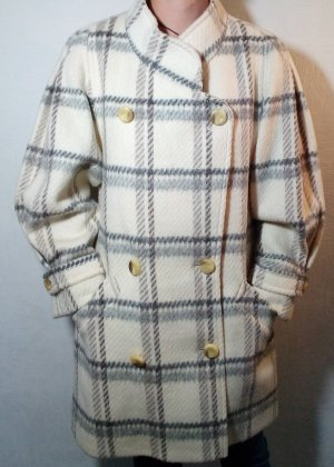 Vintage Płaszcz zimowy biały-szary