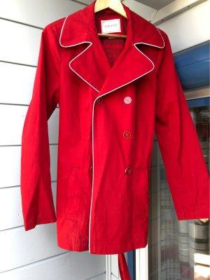 Geox Respira Krótki płaszcz czerwony-biały Poliester