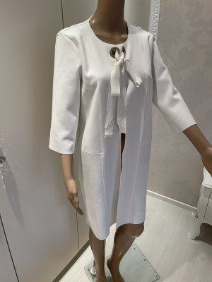 Manteau court blanc-argenté