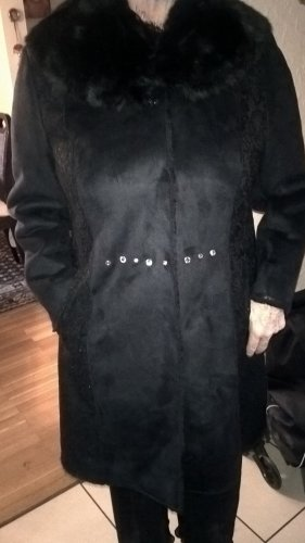 Alfredo Pauly Fake Fur Coat black polyester