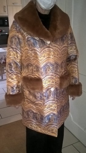 Alfredo Pauly Fake Fur Coat multicolored polyester