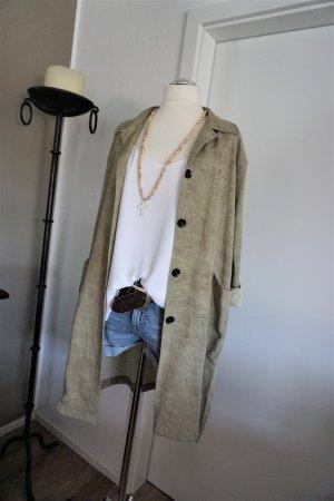 Zara Long Jacket khaki-green grey