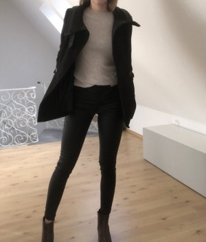 H&M Pea Coat black